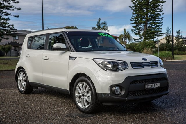 Used Kia Soul PS MY19 SI Port Macquarie, 2018 Kia Soul PS MY19 SI Clear White 6 Speed Sports Automatic Hatchback