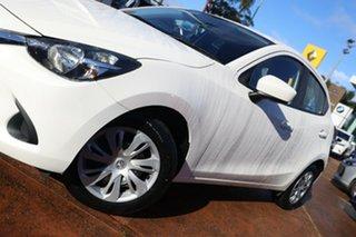 2015 Mazda 2 DJ Neo White 6 Speed Manual Hatchback.