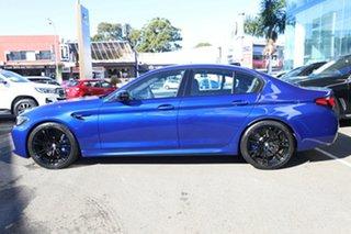 2020 BMW M5 F90 Competition LCI Marina Bay Blue 8 Speed Auto Steptronic Sport Sedan