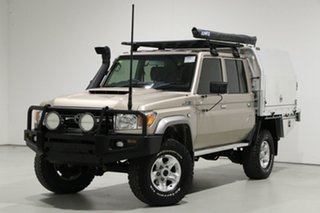 2017 Toyota Landcruiser LC70 VDJ79R MY17 GXL (4x4) Gold 5 Speed Manual Double Cab Chassis.