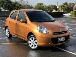 2012 Nissan Micra K13 ST-L Orange 4 Speed Automatic Hatchback.