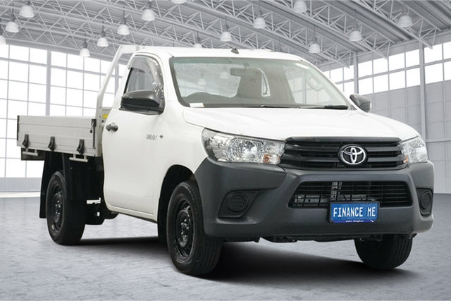 Used Toyota Hilux TGN121R Workmate 4x2 Victoria Park, 2018 Toyota Hilux TGN121R Workmate 4x2 White 5 Speed Manual Cab Chassis