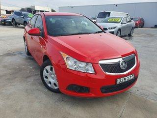 2011 Holden Cruze JH Series II MY12 CD Red 6 Speed Sports Automatic Sedan.