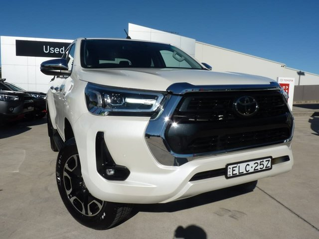Pre-Owned Toyota Hilux GUN126R SR5 Double Cab Blacktown, 2020 Toyota Hilux GUN126R SR5 Double Cab White 6 Speed Sports Automatic Utility