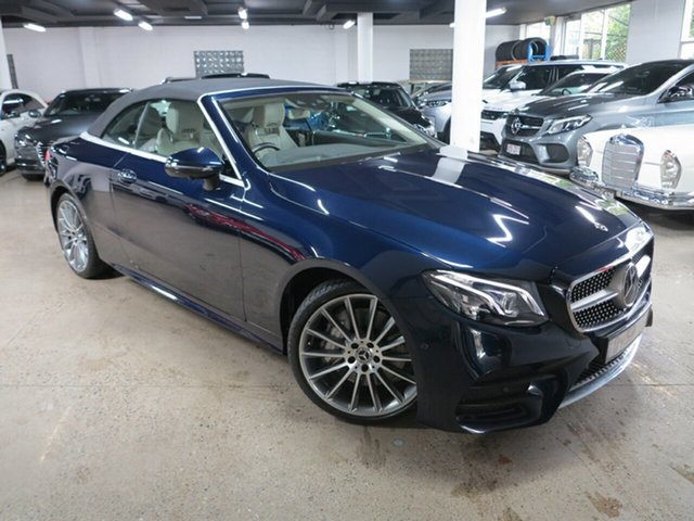 Used Mercedes-Benz E-Class A238 808+058MY E300 9G-Tronic PLUS Albion, 2018 Mercedes-Benz E-Class A238 808+058MY E300 9G-Tronic PLUS Blue 9 Speed Sports Automatic