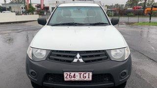 2013 Mitsubishi Triton MN MY13 GL White 5 Speed Manual Cab Chassis.
