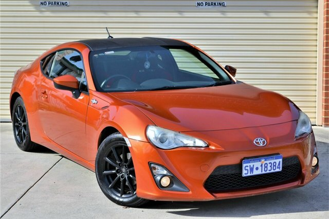 Used Toyota 86 ZN6 GT Mount Lawley, 2012 Toyota 86 ZN6 GT Orange 6 Speed Manual Coupe