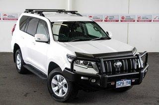 2018 Toyota Landcruiser Prado GDJ150R MY18 GXL (4x4) Glacier White 6 Speed Automatic Wagon.