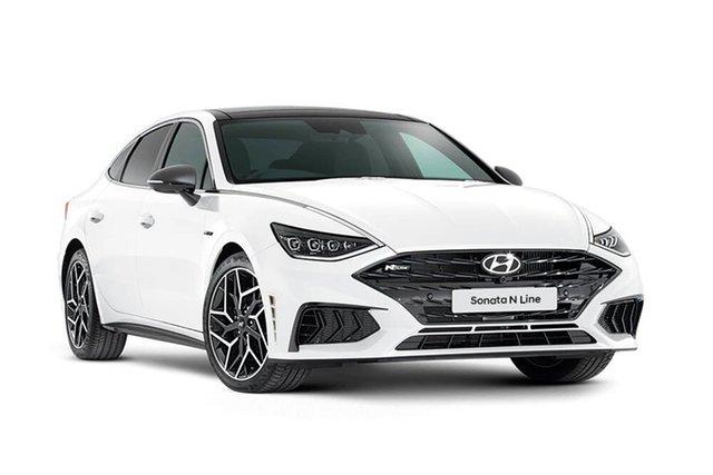 New Hyundai Sonata N Line Rutherford, 2021 Hyundai Sonata DN8.V1 N Line White Cream 8 Speed Automatic Sedan