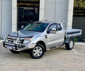 2014 Ford Ranger PX XLT Super Cab Silver 6 Speed Sports Automatic Utility