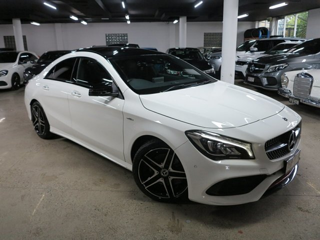 Used Mercedes-Benz CLA-Class C117 808+058MY CLA250 DCT 4MATIC Sport Albion, 2018 Mercedes-Benz CLA-Class C117 808+058MY CLA250 DCT 4MATIC Sport White 7 Speed