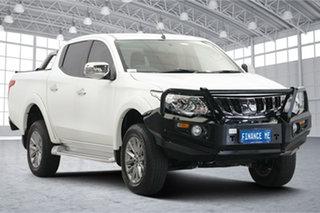 2018 Mitsubishi Triton MQ MY18 GLS Double Cab White 5 Speed Sports Automatic Utility.