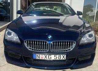 2013 BMW 6 Series F13 MY1112 650i Steptronic Deep Sea Blue 8 Speed Sports Automatic Coupe.