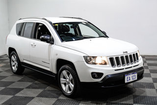 2013 Jeep Compass MK MY13 Sport CVT Auto Stick White 6 Speed Constant Variable Wagon