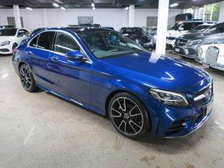 2021 Mercedes-Benz C-Class W205 801MY C200 9G-Tronic Brilliant Blue 9 Speed Sports Automatic Sedan.