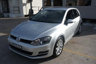 2013 Volkswagen Golf VII 110TDI DSG Highline Silver 6 Speed Sports Automatic Dual Clutch Hatchback.