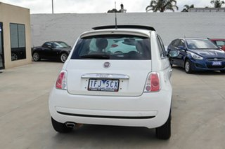 2009 Fiat 500 Series 1 Sport White 6 Speed Manual Hatchback