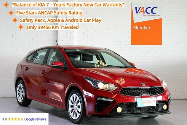 Used Kia Cerato BD MY19 S Moorabbin, 2019 Kia Cerato BD MY19 S Red 6 Speed Sports Automatic Hatchback