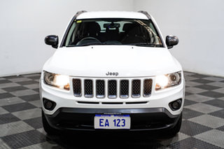 2013 Jeep Compass MK MY13 Sport CVT Auto Stick White 6 Speed Constant Variable Wagon.
