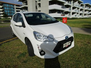 2015 Toyota Prius c NHP10R Hybrid White Continuous Variable Hatchback.