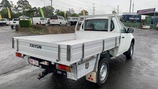 2013 Mitsubishi Triton MN MY13 GL White 5 Speed Manual Cab Chassis