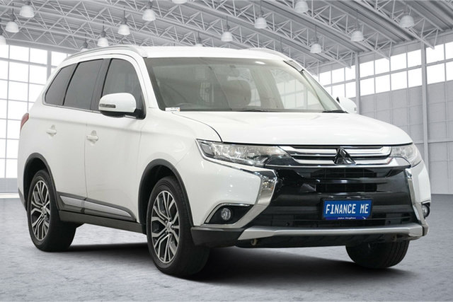 Used Mitsubishi Outlander ZK MY16 LS 2WD Victoria Park, 2016 Mitsubishi Outlander ZK MY16 LS 2WD White 6 Speed Constant Variable Wagon