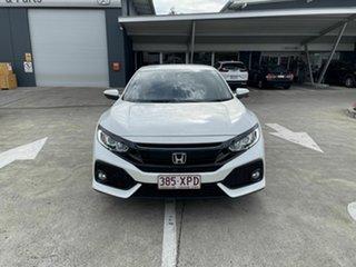 2017 Honda Civic 10th Gen MY17 VTi-S White 1 Speed Constant Variable Hatchback.