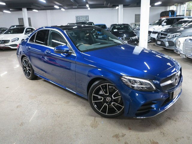 Used Mercedes-Benz C-Class W205 801MY C200 9G-Tronic Albion, 2021 Mercedes-Benz C-Class W205 801MY C200 9G-Tronic Brilliant Blue 9 Speed Sports Automatic Sedan