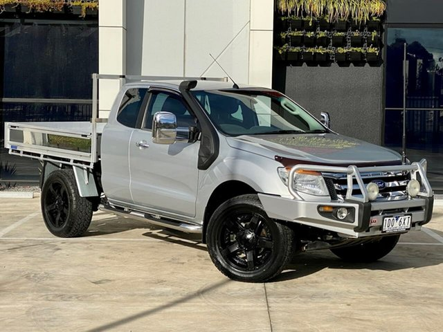 Used Ford Ranger PX XLT Super Cab Templestowe, 2014 Ford Ranger PX XLT Super Cab Silver 6 Speed Sports Automatic Utility