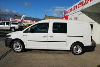 2016 Volkswagen Caddy 2K MY16 Maxi Crewvan TSI220 White 7 Speed Auto Direct Shift Van.