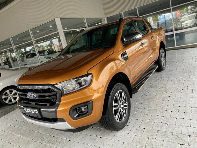 Used Ford Ranger Wildtrak Taree, 2020 Ford Ranger Wildtrak Orange Sports Automatic Double Cab Pick Up