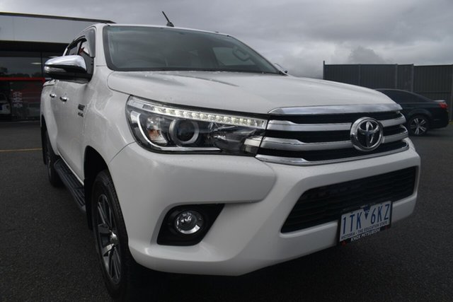 Used Toyota Hilux GUN126R SR5 Double Cab Wantirna South, 2015 Toyota Hilux GUN126R SR5 Double Cab White 6 Speed Sports Automatic Utility