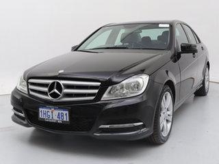 2012 Mercedes-Benz C200 W204 MY11 CDI BE Black 7 Speed Automatic G-Tronic Sedan.