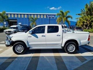 2014 Toyota Hilux KUN26R MY14 SR5 (4x4) Glacier White 5 Speed Automatic Dual Cab Pick-up