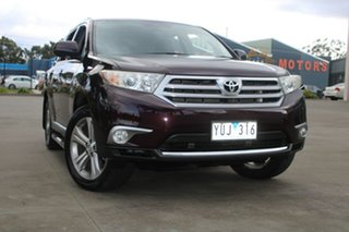 2011 Toyota Kluger GSU40R MY11 Upgrade KX-S (FWD) Purple 5 Speed Automatic Wagon.
