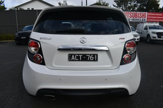 2014 Holden Barina TM MY14 RS White 6 Speed Sports Automatic Hatchback.