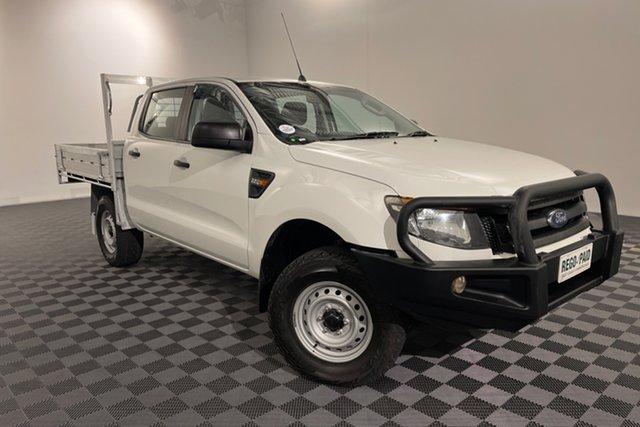 Used Ford Ranger PX XL Acacia Ridge, 2015 Ford Ranger PX XL Frozen White 6 speed Automatic Cab Chassis