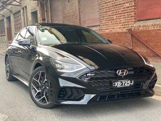 2021 Hyundai Sonata DN8.V1 MY21 N Line DCT Midnight Black 8 Speed Automatic Sedan.