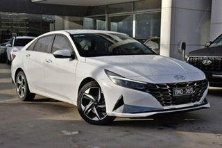 2021 Hyundai i30 CN7.V1 MY21 Elite White 6 Speed Sports Automatic Sedan.