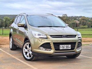 2013 Ford Kuga TF Titanium PwrShift AWD Gold/ Green 6 Speed Sports Automatic Dual Clutch Wagon.