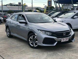 2018 Honda Civic 10th Gen MY18 VTi Silver 1 Speed Constant Variable Hatchback.