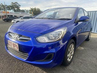 2013 Hyundai Accent RB Active Blue 4 Speed Sports Automatic Hatchback