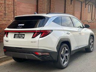 2021 Hyundai Tucson NX4.V1 MY22 Highlander D-CT AWD White Cream 7 Speed Automatic Wagon.