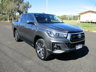2018 Toyota Hilux GUN126R MY19 SR5 (4x4) Graphite 6 Speed Automatic Double Cab Pick Up.