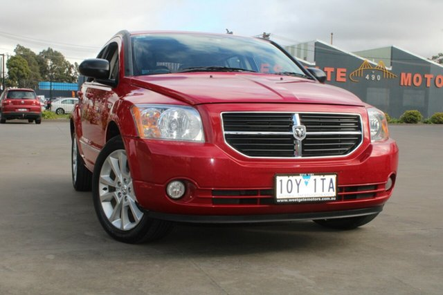 Used Dodge Caliber PM SX West Footscray, 2010 Dodge Caliber PM SX Red 6 Speed CVT Auto Sequential Hatchback