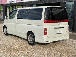 2008 Nissan Elgrand E51 White 5 Speed Automatic Wagon