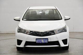 2016 Toyota Corolla ZRE172R Ascent S-CVT White 7 Speed Constant Variable Sedan.