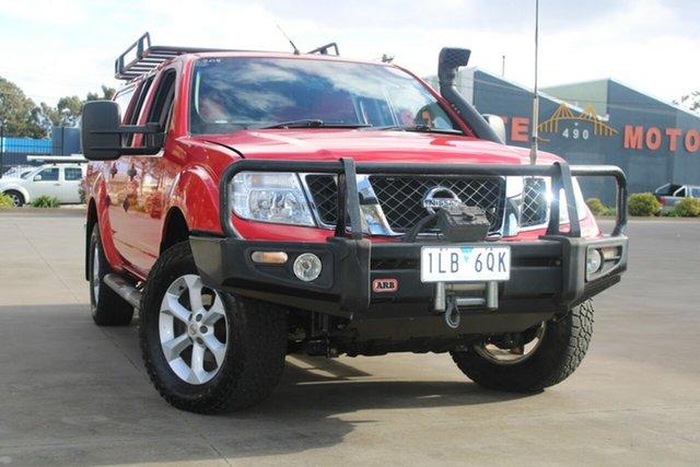 Used Nissan Navara D40 Series 4 ST-X (4x4) West Footscray, 2010 Nissan Navara D40 Series 4 ST-X (4x4) Red 5 Speed Automatic Dual Cab Pick-up