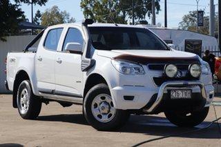 2013 Holden Colorado RG MY14 LX Crew Cab Summit White 6 Speed Sports Automatic Utility.
