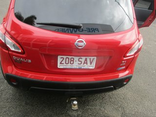 2010 Nissan Dualis J10 Series II TI (4x4) Red 6 Speed CVT Auto Sequential Wagon.